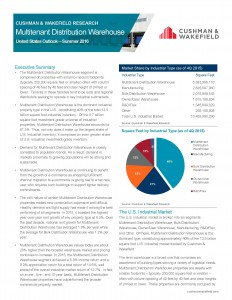 Multi-tenant Distribution Warehouse U S Outlook Report Summer 2016_Page_1